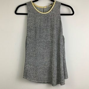 Alexander Wang Static Tank Top with Yellow Seam